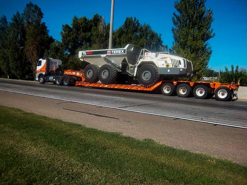 transporte maquinaria