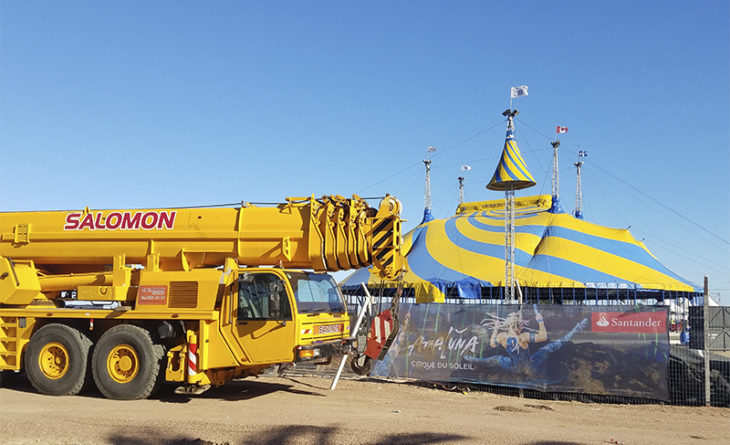 Salomón Grúas brindó servicios al Cirque du Solei